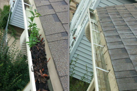 Gutter Cleaning Before & After Photos